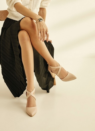 Sole Sisters Topuklu Ayakkabı Bej - Sandra Ten